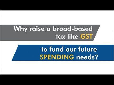 Why raise a broad based tax like GST to fund our future spending needs?