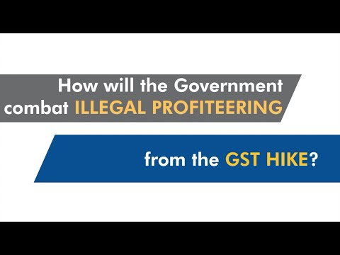How will the Government combat illegal profiteering from the GST hike?