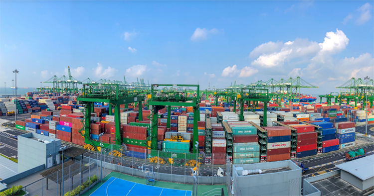 The Port of Singapore is one of the busiest sea ports in the world (MOT)