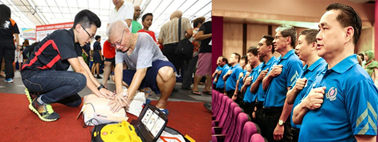 Community involvement in SGSecure and emergency preparedness training (MHA)